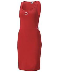 Women's Ribbed Scoop-Neck Dress