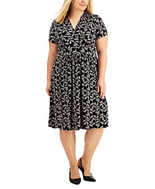 Plus Size Printed Knit Dress