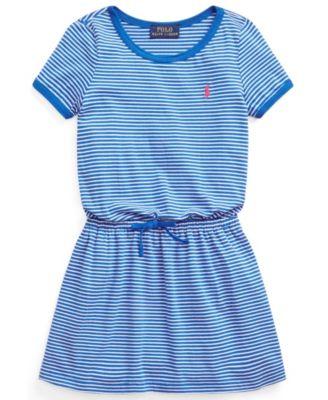 폴로 랄프로렌 Polo Ralph Lauren Toddler Girls Striped Cotton Jersey T-shirt Dress