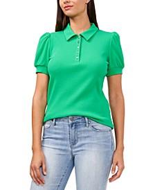 Tobi Puff-Sleeve Polo Shirt, Created for Macy's