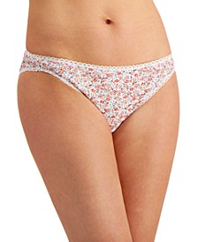 Women's Pretty Cotton Crowded Floral Bikini Underwear, Created for Macy's