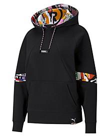 Women's Printed Active Hooded Sweatshirt
