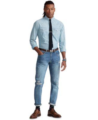 폴로 랄프로렌 Polo Ralph Lauren Mens Hampton Relaxed Straight Jeans,Wilkes