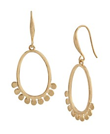 Scalloped Oval Drop Earrings