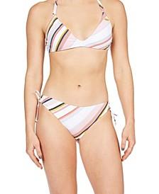 Juniors' Beach Classics Triangle Bikini Top & Bikini Bottoms