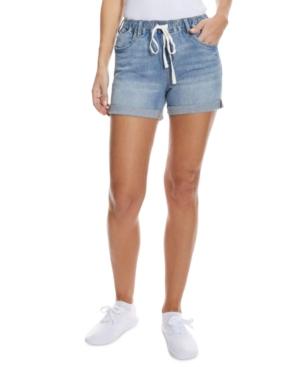 Juniors' Pull-On Drawstring Jean Shorts