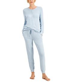 Cozy Soft Sleep Top & Joggers, Created for Macy's