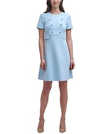 Button-Front A-Line Dress