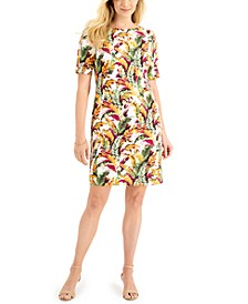 Fantasy Leaves Printed Dress, Created for Macy's