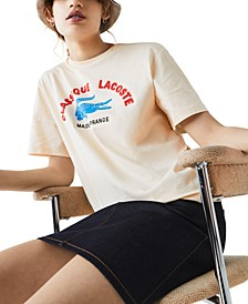 Made In France Embroidered Graphic T-Shirt
