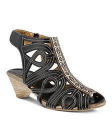 L'Artiste Women's Flourish Gladiator Sandals