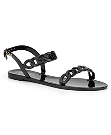 Women's Tonnara Chain Detail Jelly Sandals