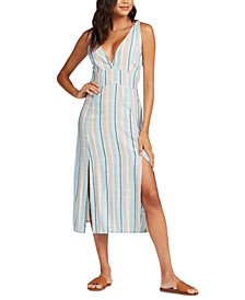 Juniors' Anthena Striped Midi Dress