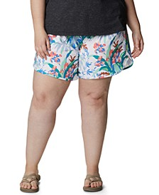 Plus Size Bogata Bay Printed Stretch Shorts