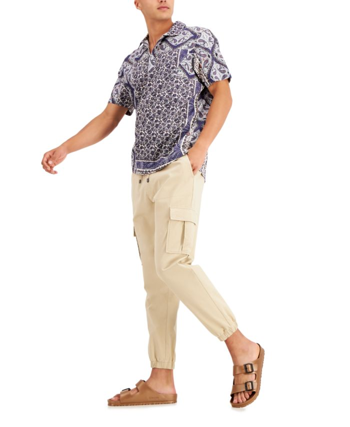 INC International Concepts INC Men's Onyx Short-Sleeve Popover Shirt, Created for Macy's  & Reviews - Casual Button-Down Shirts - Men - Macy's