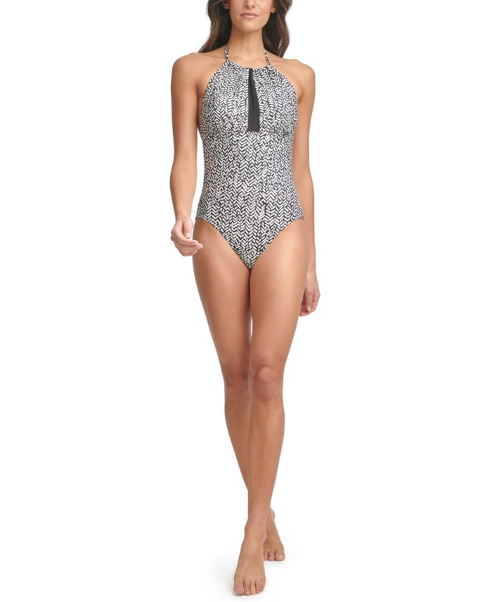 Calvin Klein Printed Mesh-Inset Tummy Control One-Piece Swimsuit & Reviews - Swimsuits & Cover-Ups - Women - Macy's