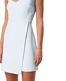 Whisper V-Neck Envelope-Skirt Dress