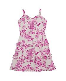 Big Girls Printed Tiered Dress