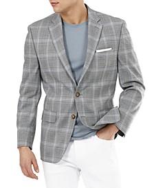 Men's UltraFlex Gray Plaid Sport Coat