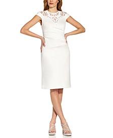 Sequin-Detail Sheath Dress