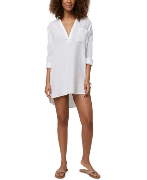 O'neill Juniors' Belizin Cotton Cover-up Tunic Women's Swimsuit In White