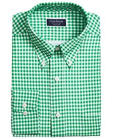 Men's Classic/Regular Fit Non-Iron Stretch Medium Gingham Dress Shirt, Created for Macy's