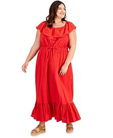Plus Size Eyelet Maxi Dress, Created for Macy's