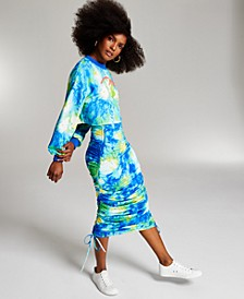 Misa Hylton for INC Printed High-Rise Ruched Skirt, Created for Macy's