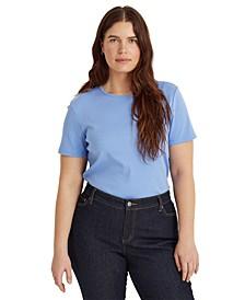 Plus Size Cotton Short Sleeve Top
