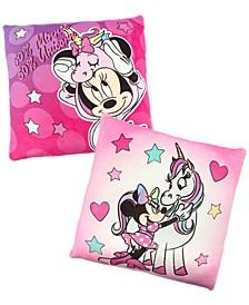 "Minnie Mouse 2-Pk. Squishy 12"" Square Decorative Pillows"