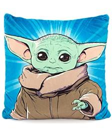 "Star Wars The Mandalorian 2-Pk. Grogu Squishy 12"" Square Decorative Pillows"