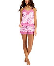 Lace-Trim Satin Cami & Shorts Sleep Set, Created for Macy's
