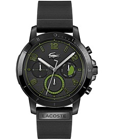Men's Topspin Black Silicone Strap Watch 43mm