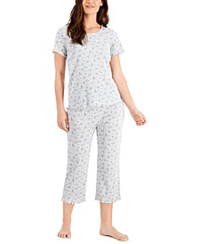 Cotton Pointelle Capri Pajama Pants Set, Created for Macy's