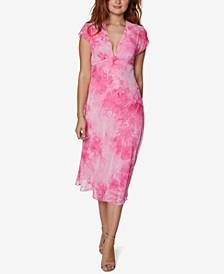Tie-Dyed A-Line Midi Dress