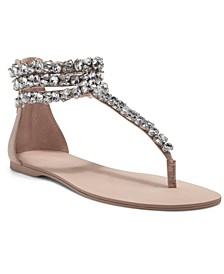 Aminah Abdul Jillil for INC Sulina Embellished Flat Sandals, Created for Macy's