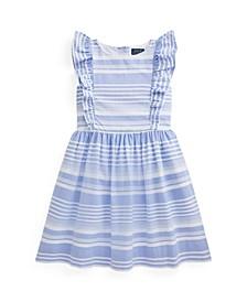 Big Girls Striped Oxford Dress