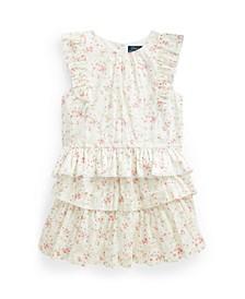 Big Girls Floral Top Skirt Set