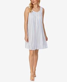 Ruffle-Hem Sleeveless Nightgown