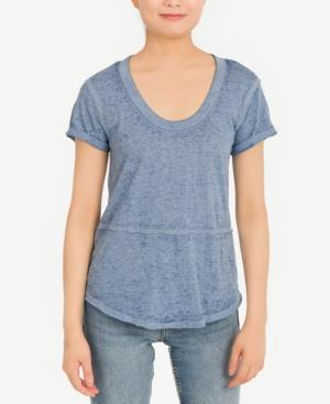 Juniors' Burnout High-Low T-Shirt