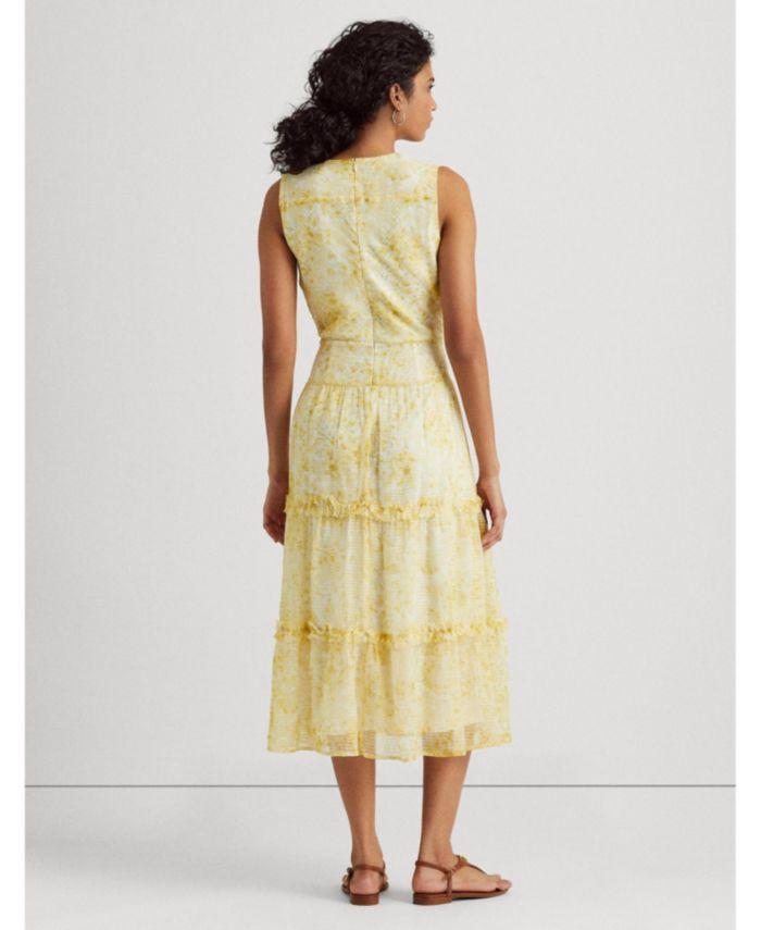 Lauren Ralph Lauren Floral Sleeveless Georgette Midi Dress & Reviews - Dresses - Women - Macy's