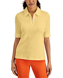 Petite Elbow-Length Collared Shirt, Created for Macy's