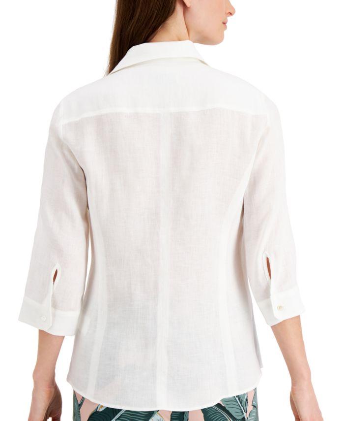 Weekend Max Mara Raoul Linen Shirt & Reviews - Tops - Women - Macy's