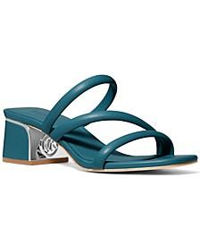 Lana Strappy Mule Mid-heel Sandals