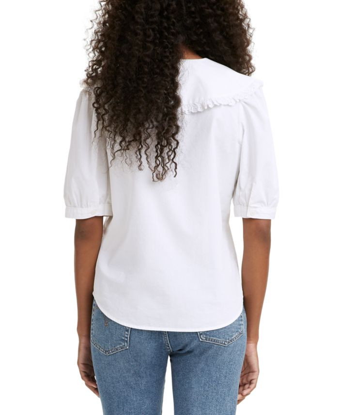 Levi's Olympia Cotton Collared Blouse & Reviews - Tops - Juniors - Macy's