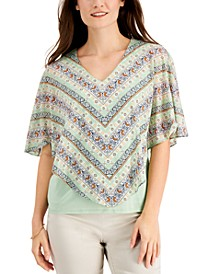 Printed Overlay Top, Created for Macy's