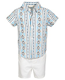 Baby Boys 2-Pc. Printed Shirt & Shorts Set, Created for Macy's