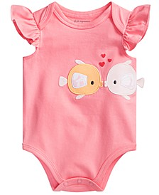 Baby Girls Kissing Fishes Bodysuit, Created for Macy's