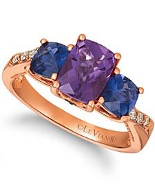 Multi-Gemstone (2 ct. t.w.) & Diamond (1/10 ct. t.w.) Statement Ring in 14k Rose Gold