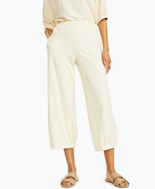 Textured Cropped Jogger Pants, Created for Macy's